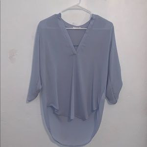 Light blue 3/4 sleeve blouse